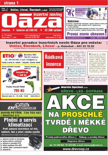 Oáza – Uničov, Šternberk, Litovel a okolí